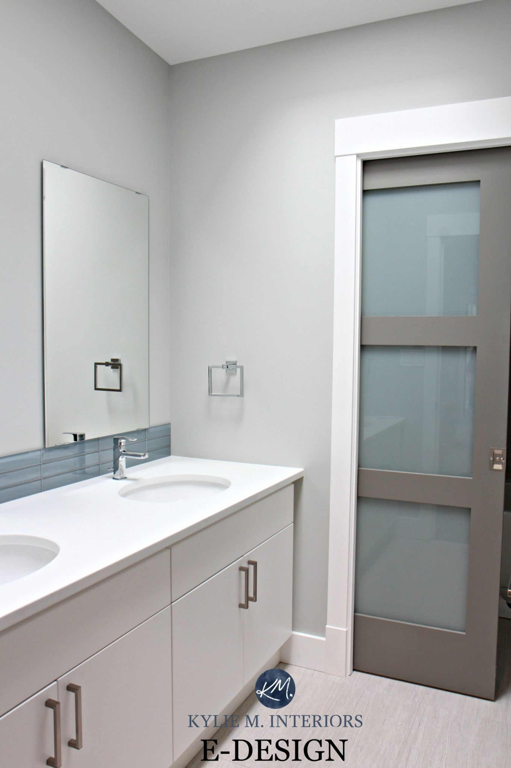 Grey Paint Colors For Bathroom  Benjamin Moore Stonington Gray and Chelsea Gray small