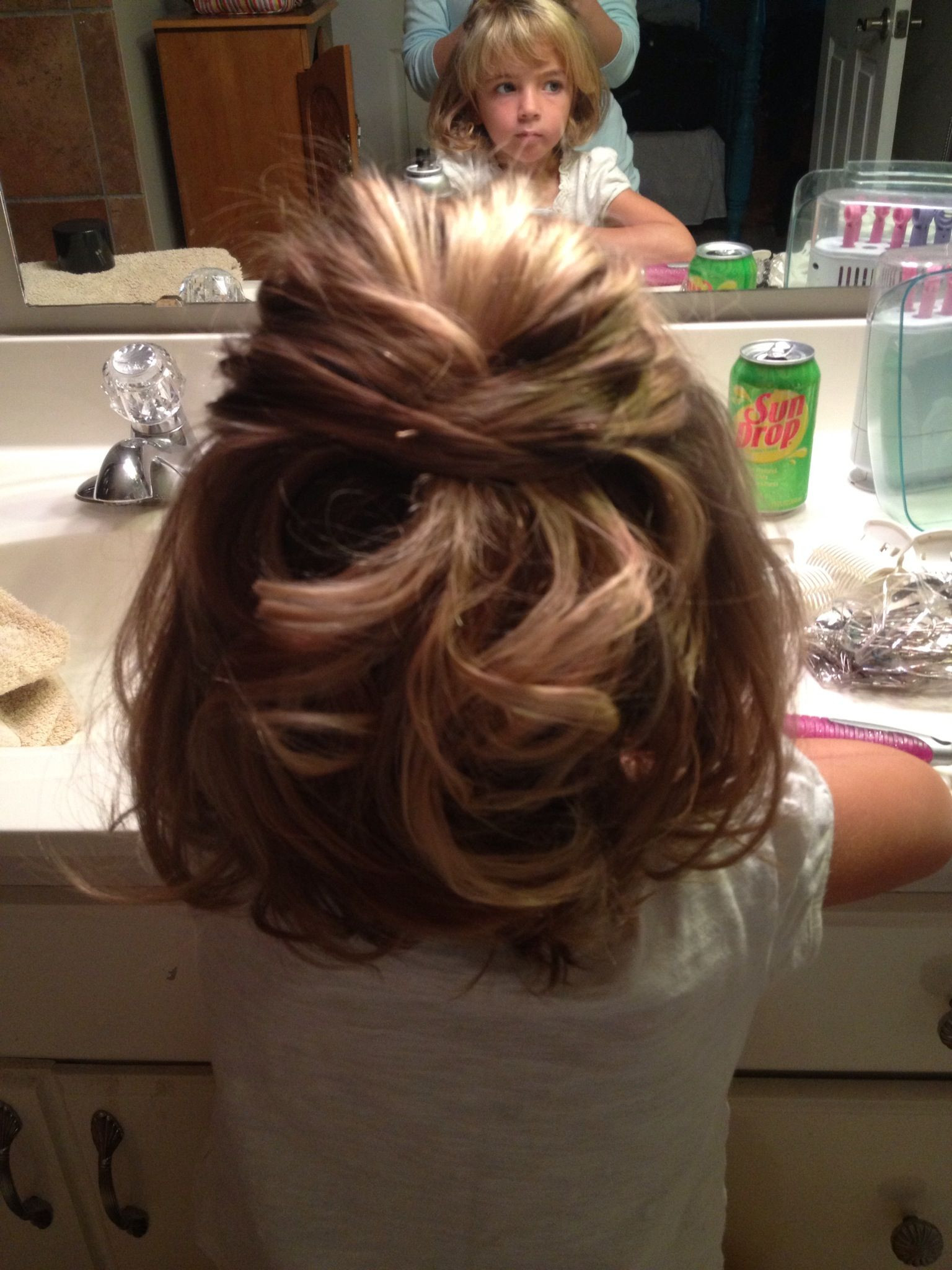 Hairstyles For Little Girls For Weddings  Little girls wedding hair My niece Annabel loved her