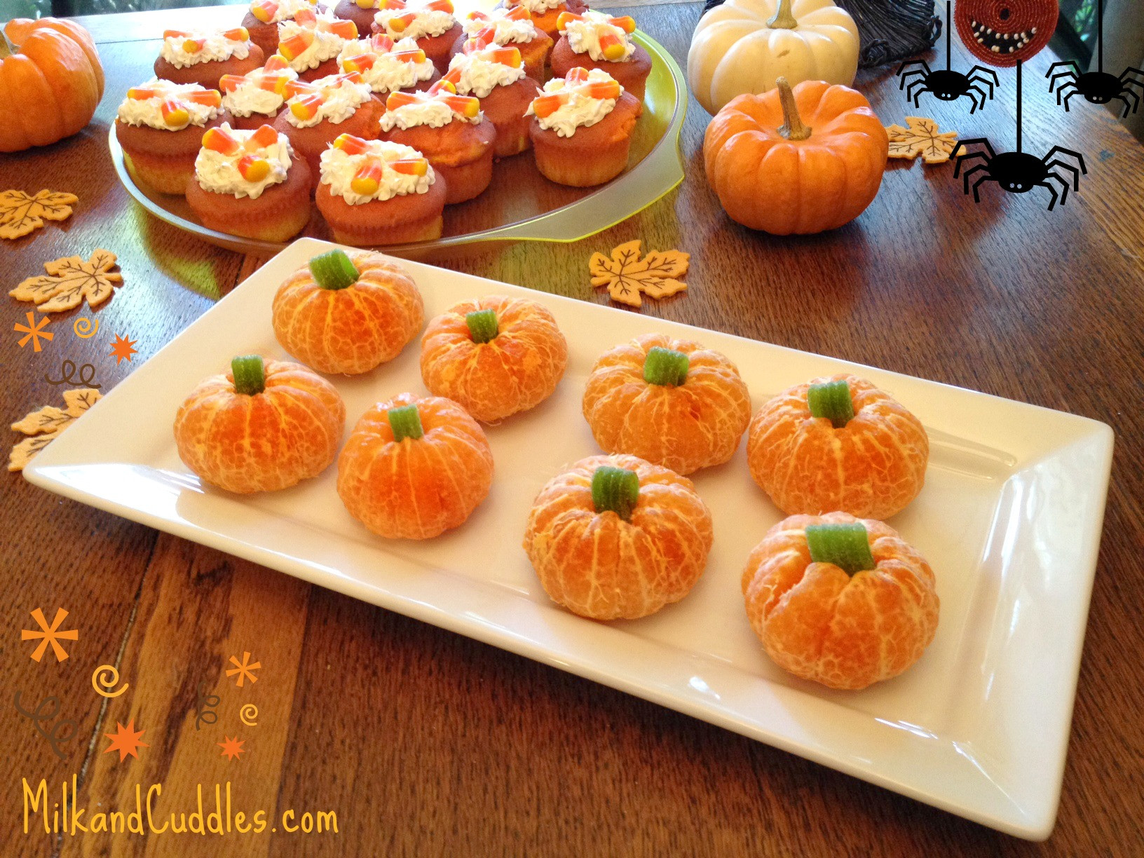 Halloween Food Ideas For Toddlers Party  Recipe &Tips for Candy Corn Cupcakes and Orange Pumpkins