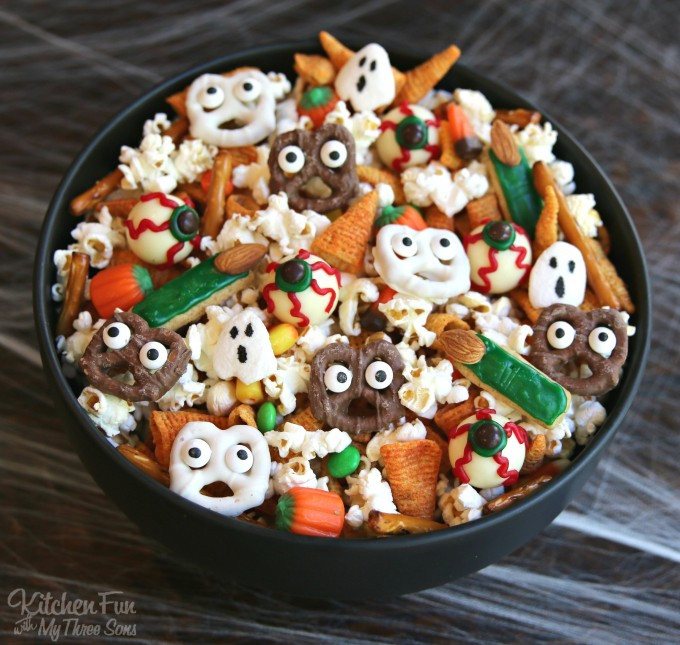 Halloween Food Ideas For Toddlers Party  Halloween Snack Mix Kitchen Fun With My 3 Sons