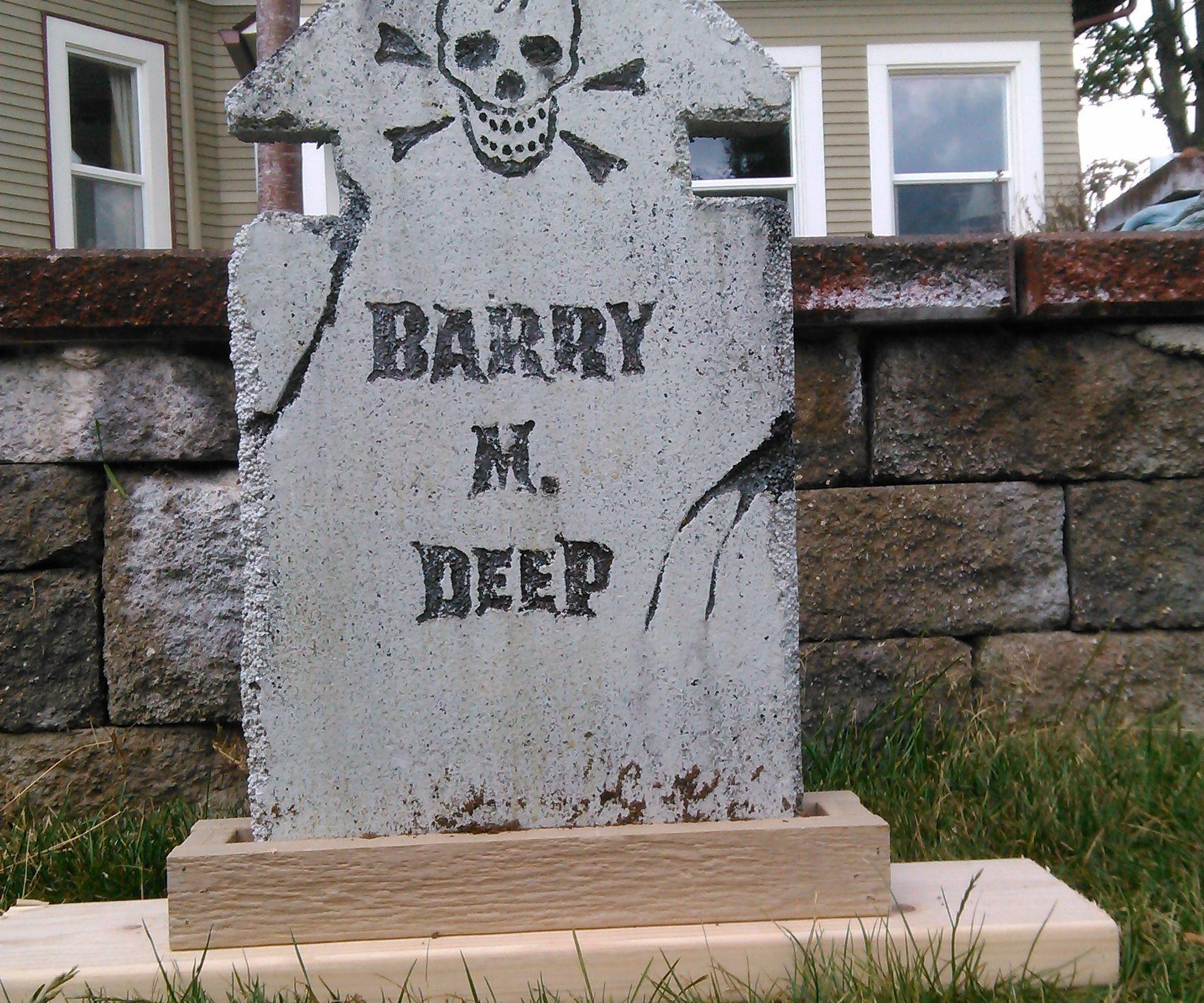 Halloween Grave Stone  Halloween Tombstone Anchors Bases