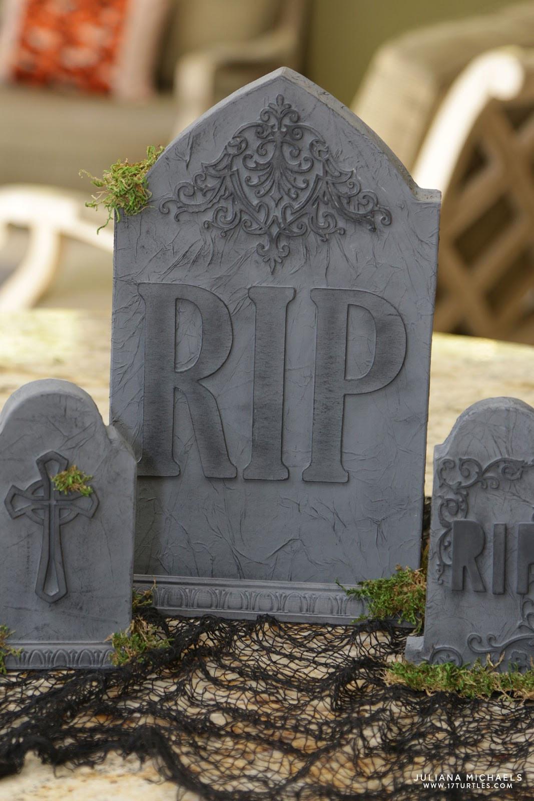 Halloween Grave Stone  Halloween Papermache Tombstone Centerpiece 17turtles