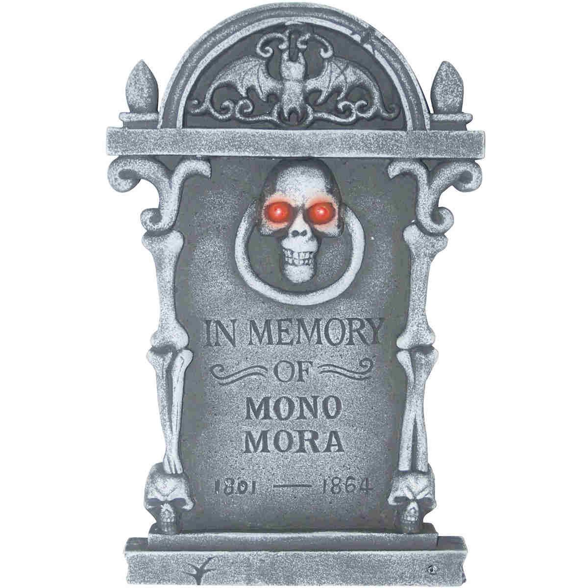 Halloween Grave Stone  Halloween Tombstone Light Up Skull Happy Holidayware