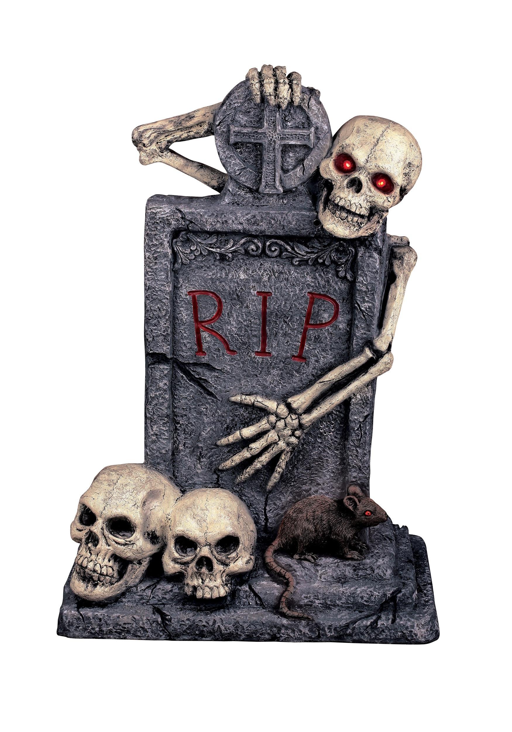 Halloween Grave Stone  Deluxe Fiberglass Tombstone