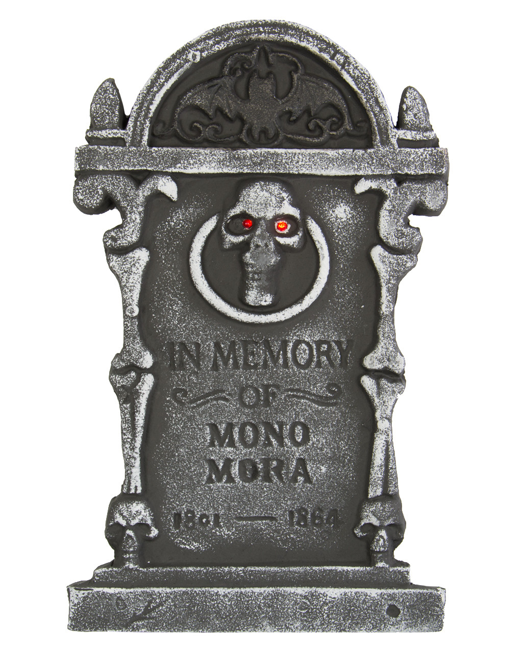 Halloween Grave Stone  Tombstone with Skull and LEDs Light Up Tombstone LED