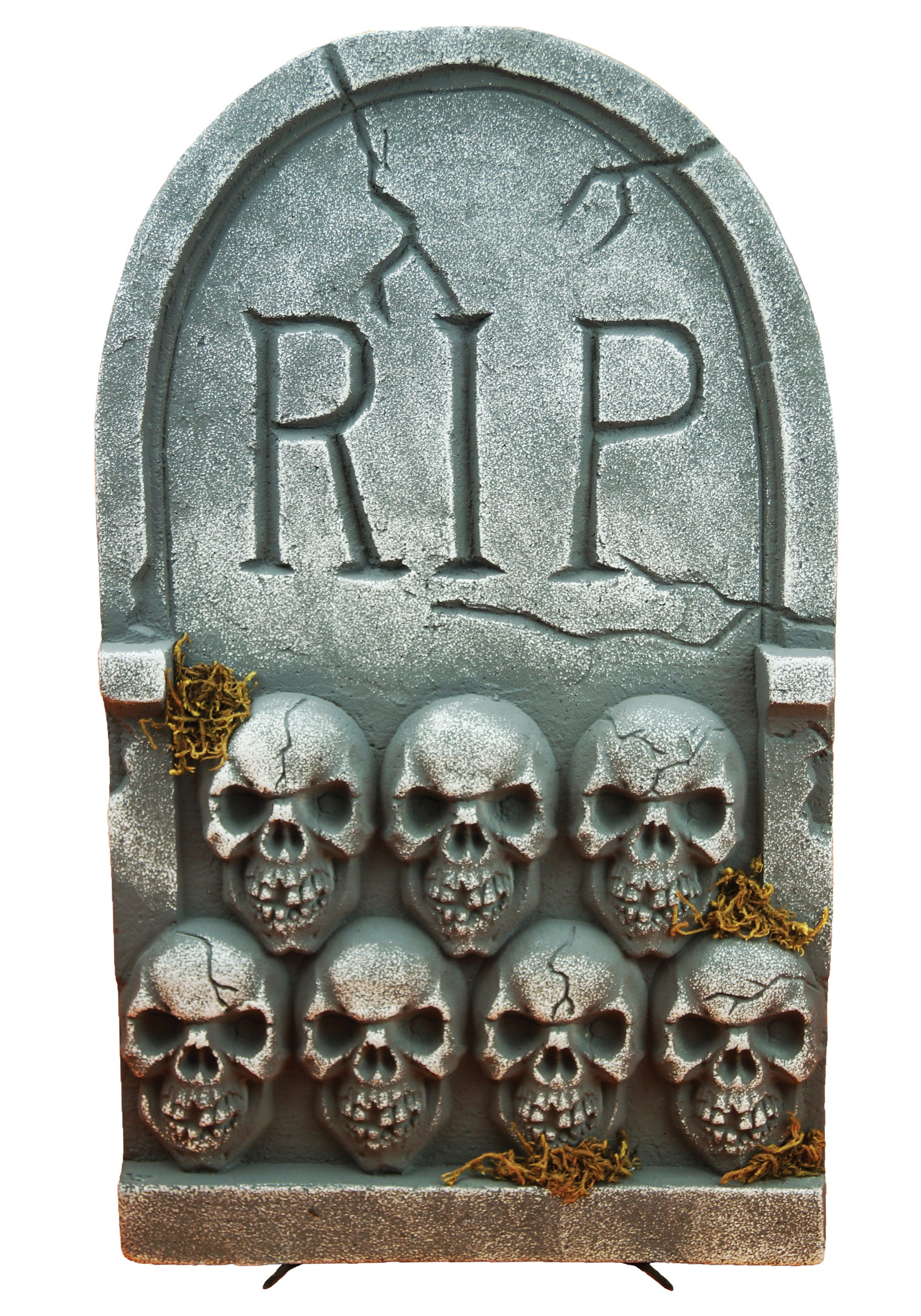 Halloween Grave Stone  RIP Tombstone with Skulls