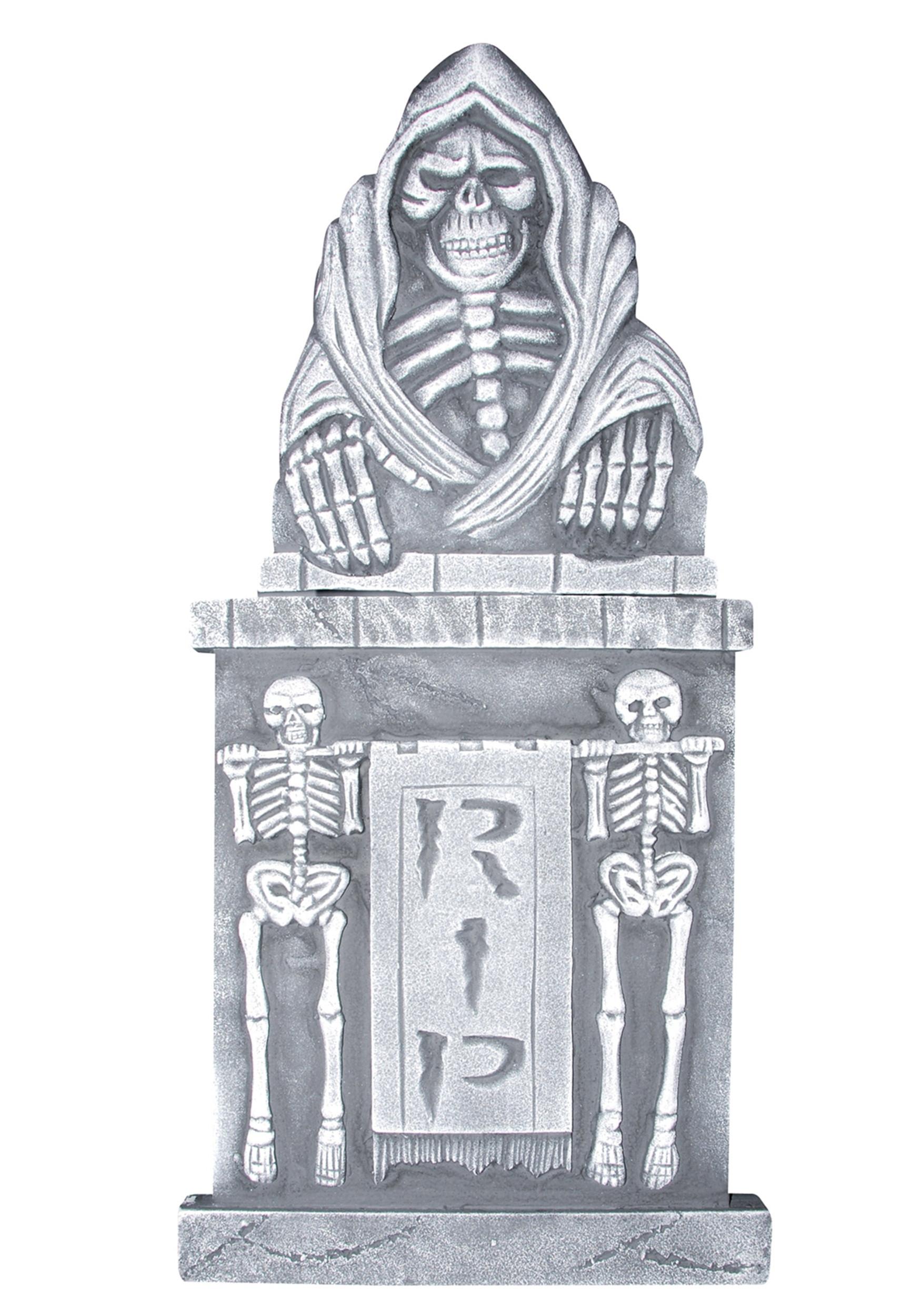 "Halloween Grave Stone  36"" Two Piece Tombstone"