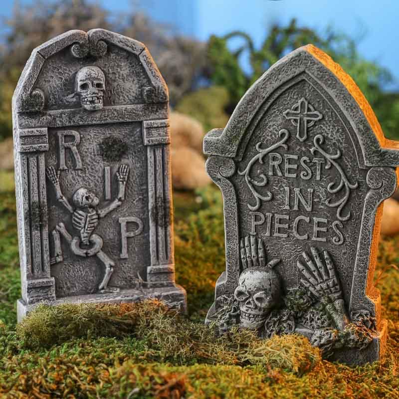 Halloween Grave Stone  Miniature Halloween Tombstone Fall Craft Supplies Fall