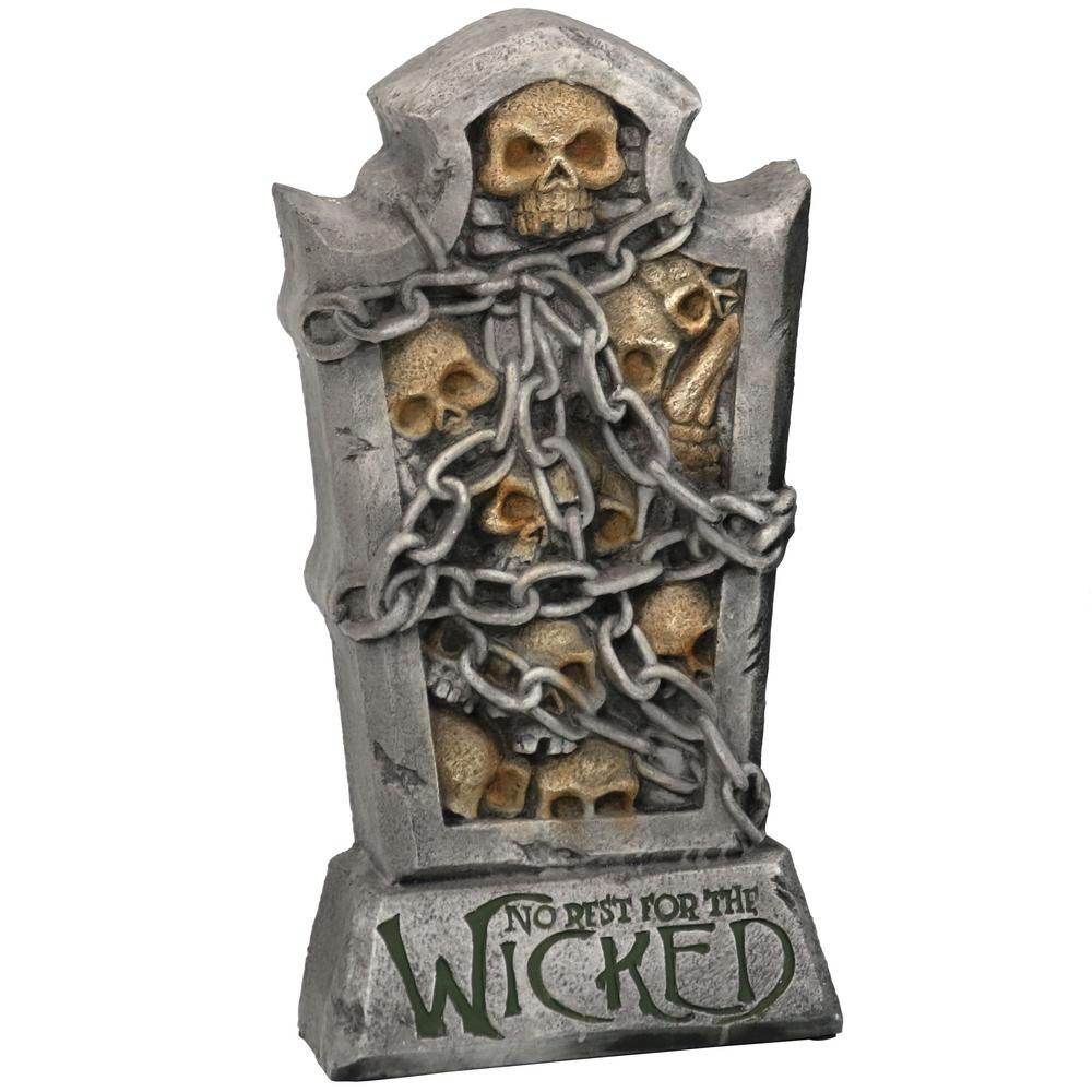 Halloween Grave Stone  Sunnydaze Decor 24 in No Rest for The Wicked Tombstone