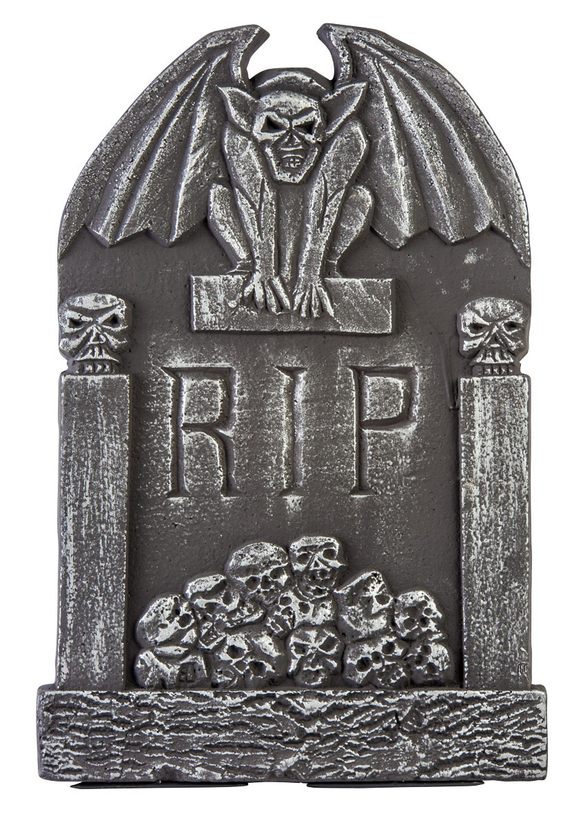 Halloween Grave Stone  Tombstone Graveyard Rip Skull Huanted Mansion Scary