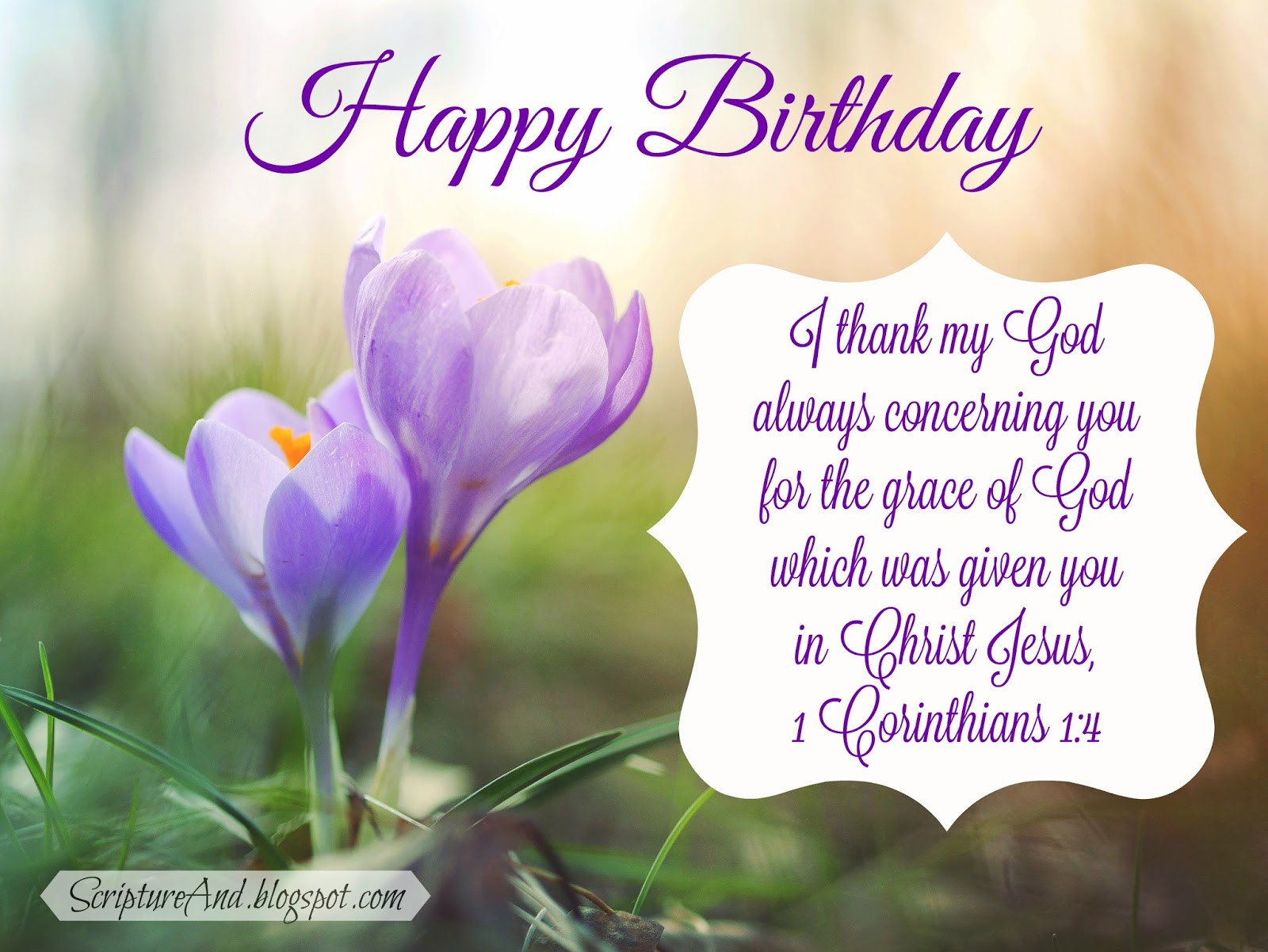 Happy Birthday Christian Quote  Scripture and Free Birthday with Bible Verses