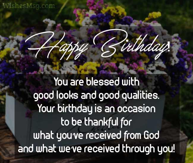 Happy Birthday Christian Quote  60 Religious Birthday Wishes Messages and Quotes WishesMsg