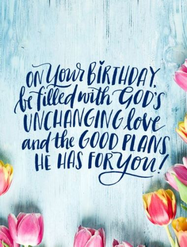 Happy Birthday Christian Quote  christian blessed birthday verses