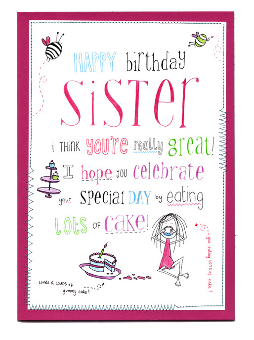 Happy Birthday Sister Poems Funny  Half Sister Quotes QuotesGram