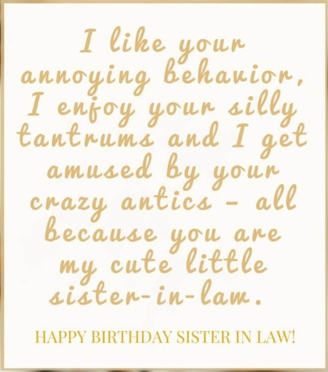 Happy Birthday Sister Poems Funny  40 Happy Birthday Wishes for Sister In Law Funny