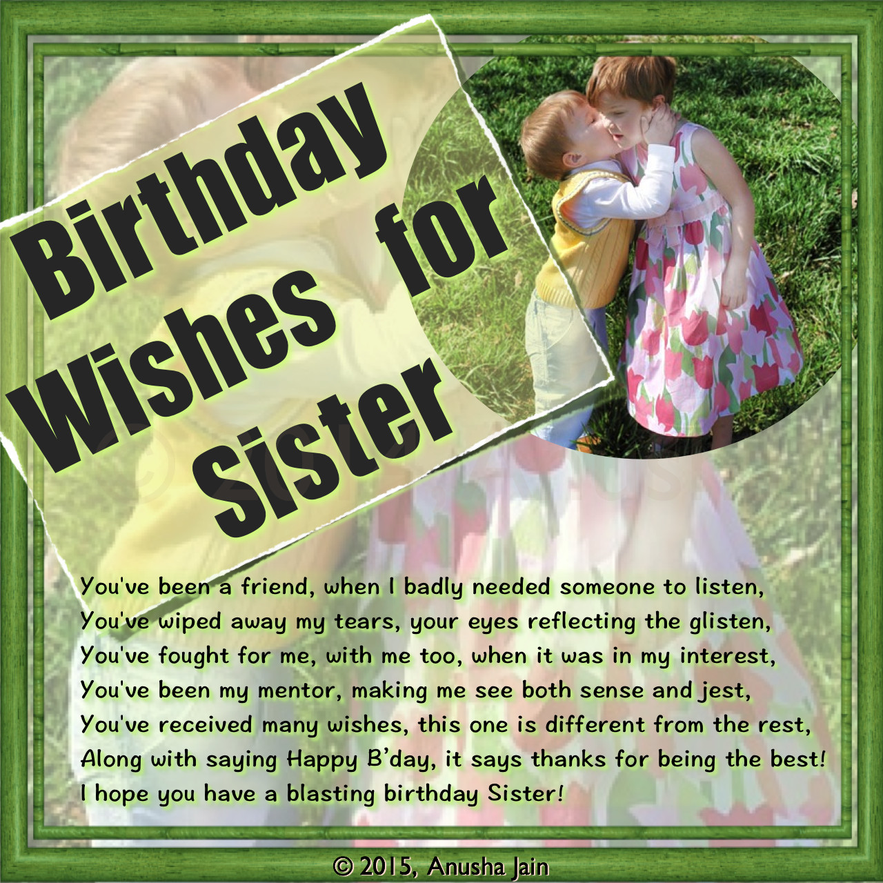 Happy Birthday Sister Poems Funny  Birthday Wishes Texts and Quotes for Sisters Funny