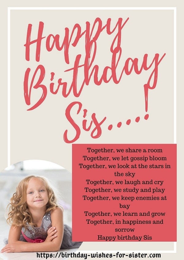 Happy Birthday Sister Poems Funny  41 Improved Happy Birthday Poems for Sister You Won t