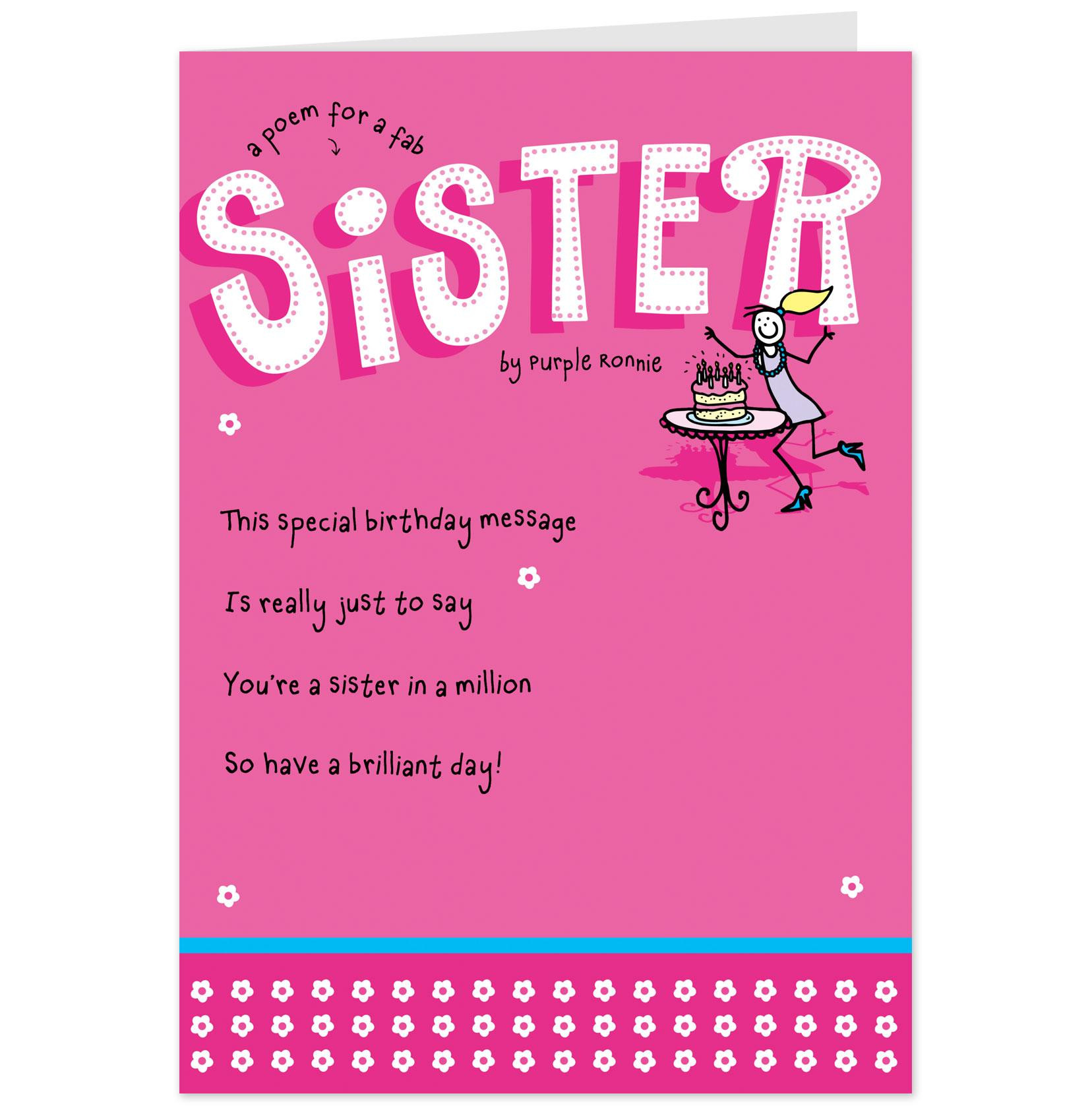 Happy Birthday Sister Poems Funny  Funny Sister Quotes And Poems QuotesGram