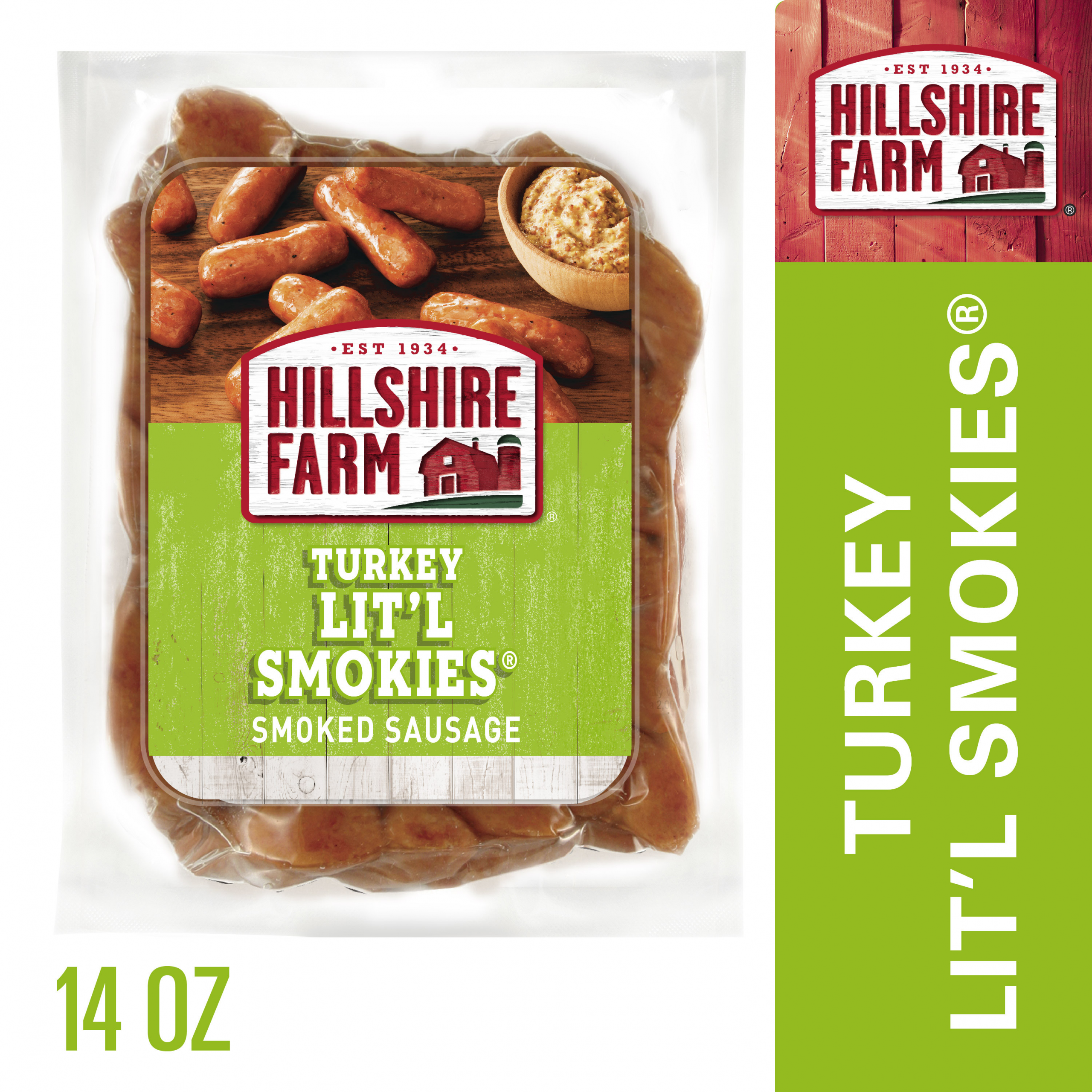 Hillshire Farms Turkey Sausage  Hillshire Farm Turkey Lit l Smokies Smoked Sausage 14