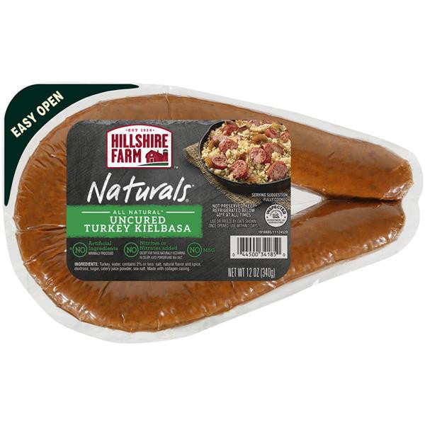 Hillshire Farms Turkey Sausage  Hillshire Farm Naturals Uncured Turkey Kielbasa Smoked