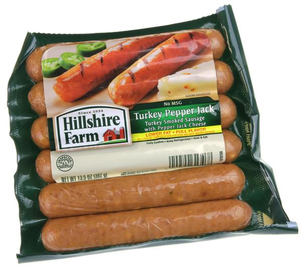 Hillshire Farms Turkey Sausage  Hillshire Farm Turkey Pepper Jack Smoked Sausage