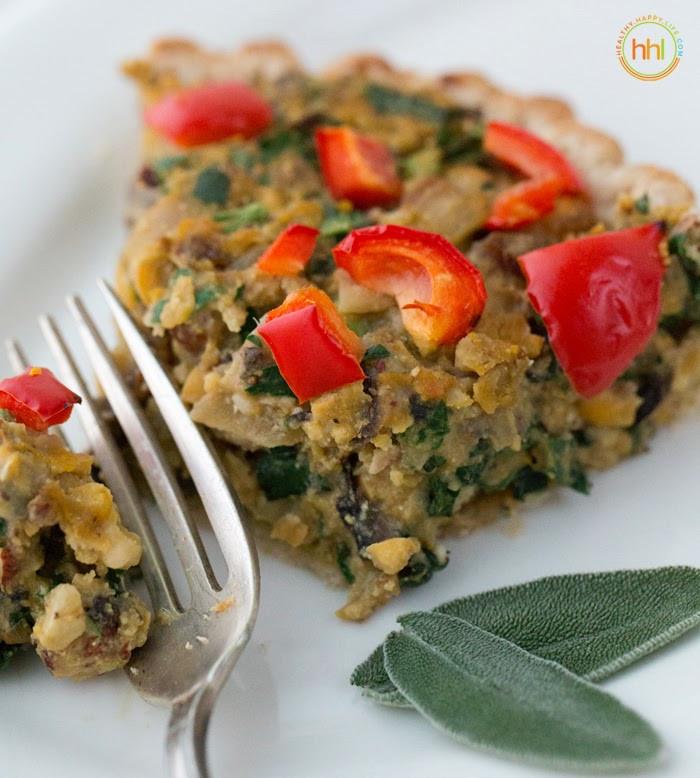Holiday Vegetarian Main Dishes  Vegan Holiday Main Dish Mushroom Chickpea Hazelnut Tart