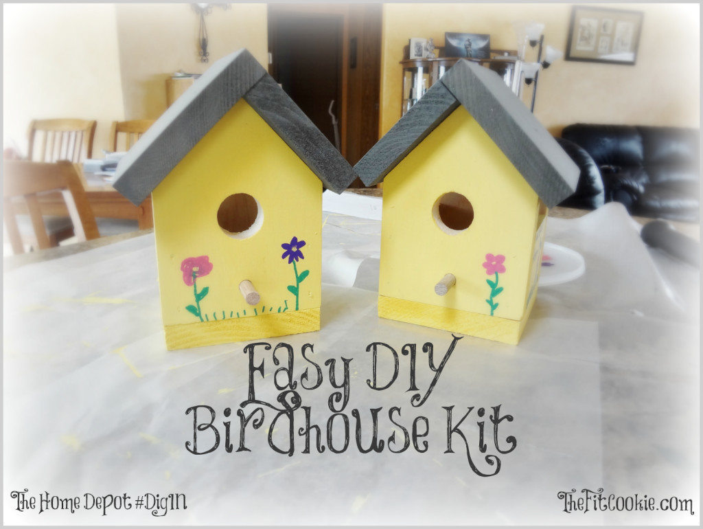 Home Depot DIY Kids  Easy DIY Birdhouse Kit Project • The Fit Cookie