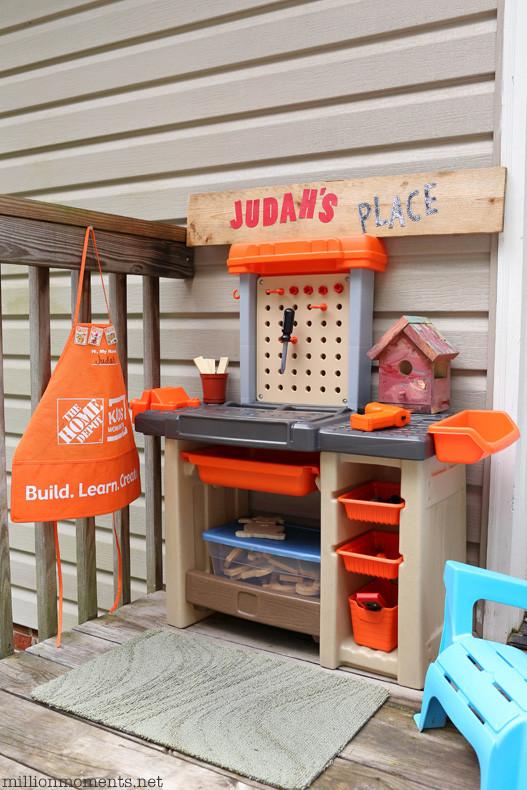 Home Depot DIY Kids  Space Saving DIY Kids Workshop