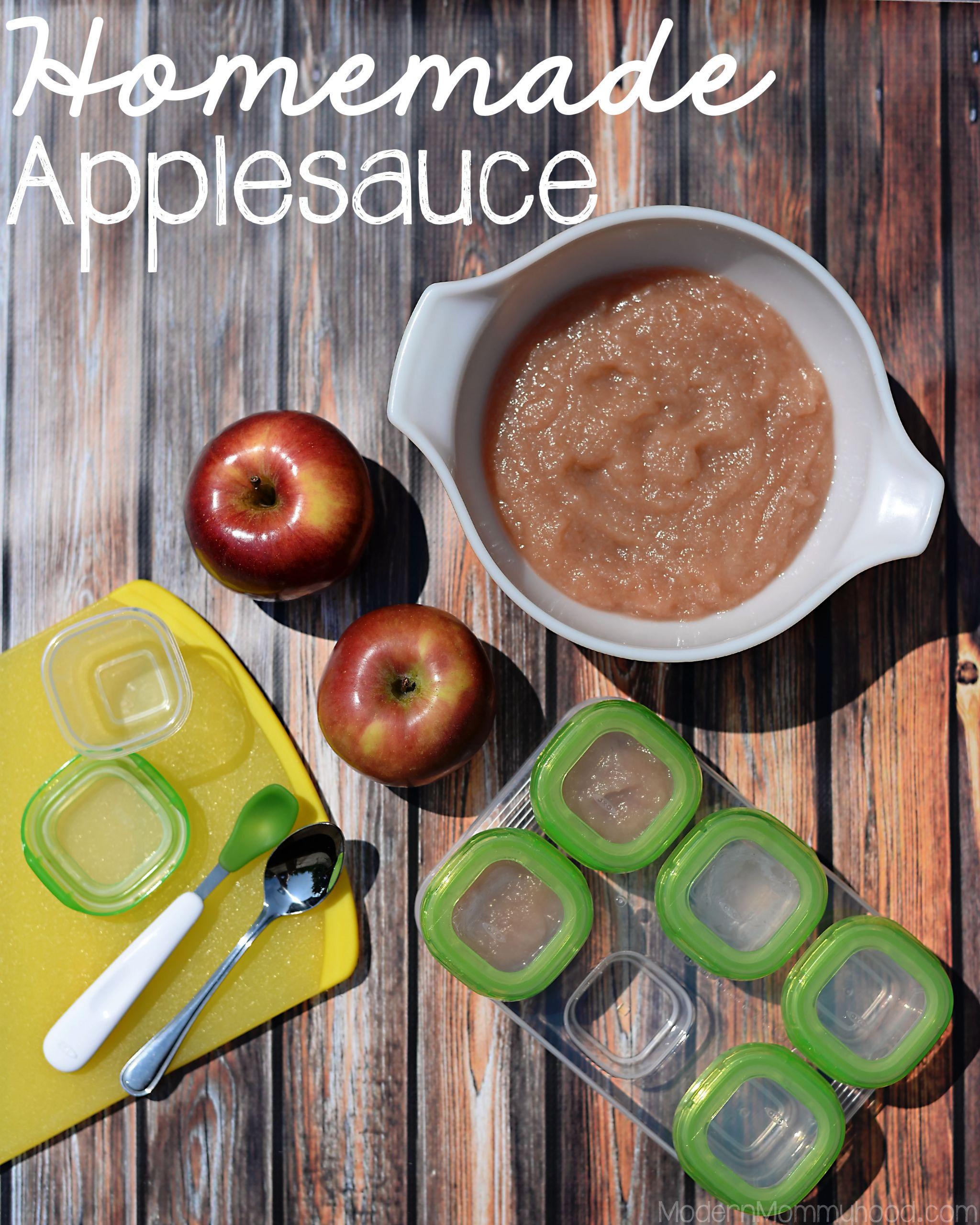Homemade Applesauce For Baby  Homemade Applesauce Modern Mommyhood