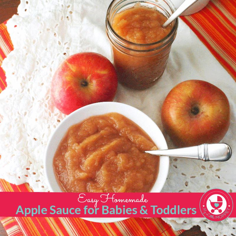 Homemade Applesauce For Baby  Applesauce Recipe for Babies My Little Moppet