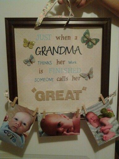 Homemade Gifts For Grandma From Baby  The 25 best Homemade grandma ts ideas on Pinterest