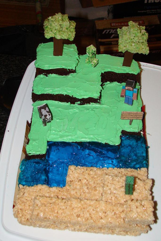 How To Make A Minecraft Birthday Cake  Minecraft Birthday Cake