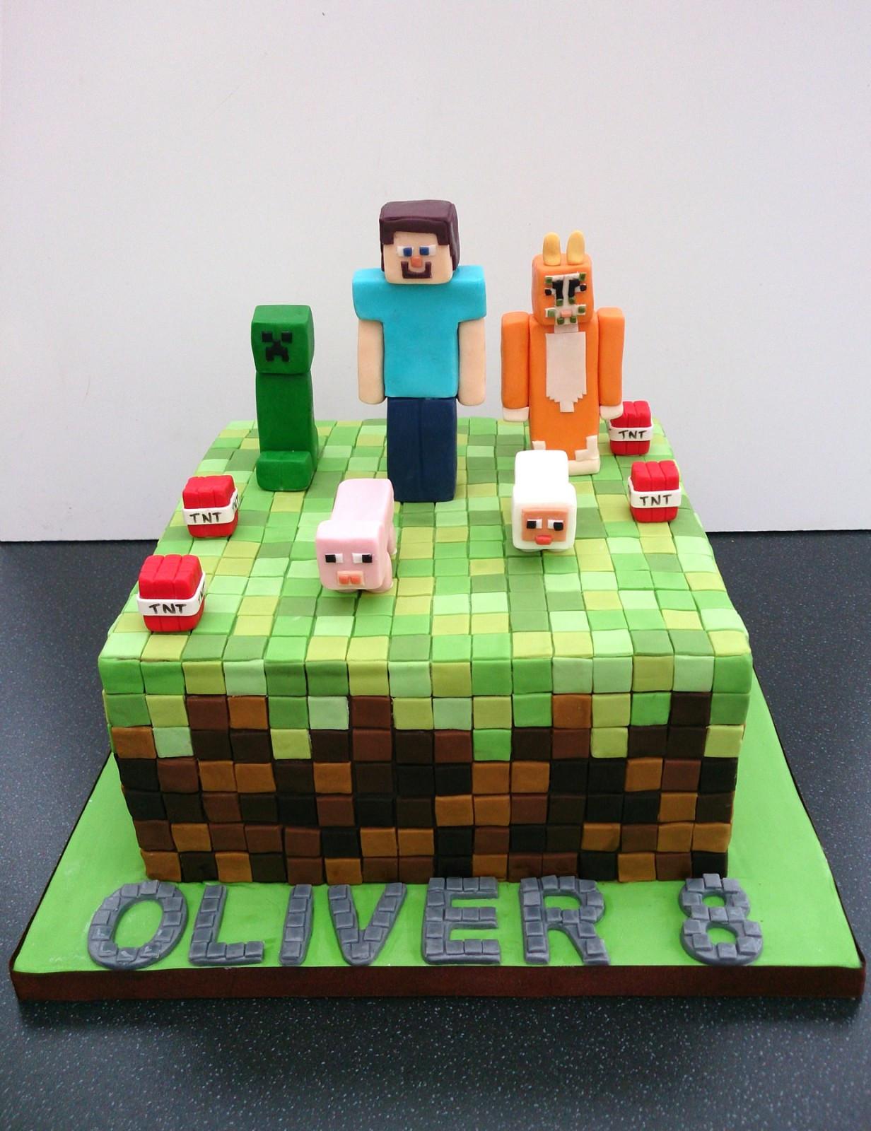 How To Make A Minecraft Birthday Cake  Minecraft Birthday Cake Susie s Cakes