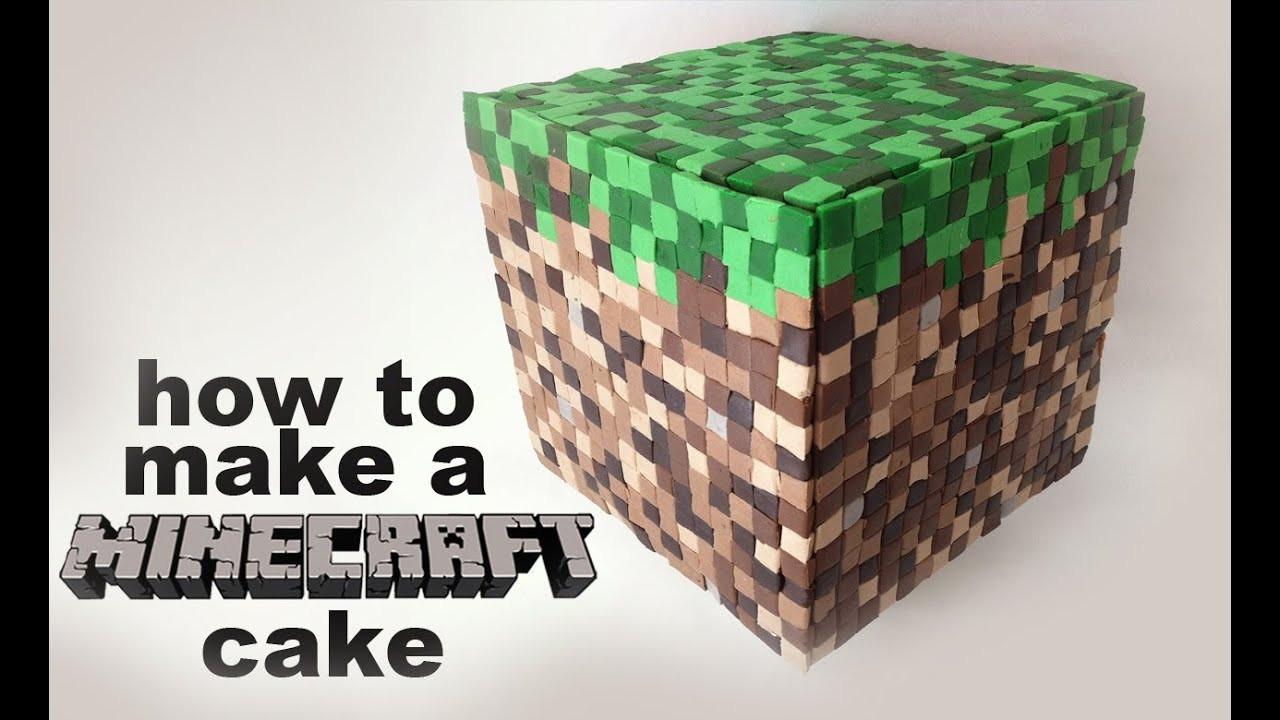 How To Make A Minecraft Birthday Cake  Minecraft Cake Recipe tutorial 3D by Ann Reardon How To