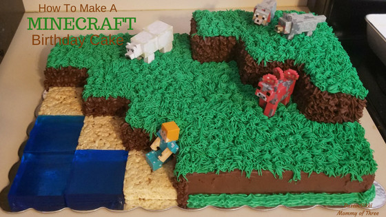 How To Make A Minecraft Birthday Cake  How to Make and Decorate a Minecraft Landscape Birthday