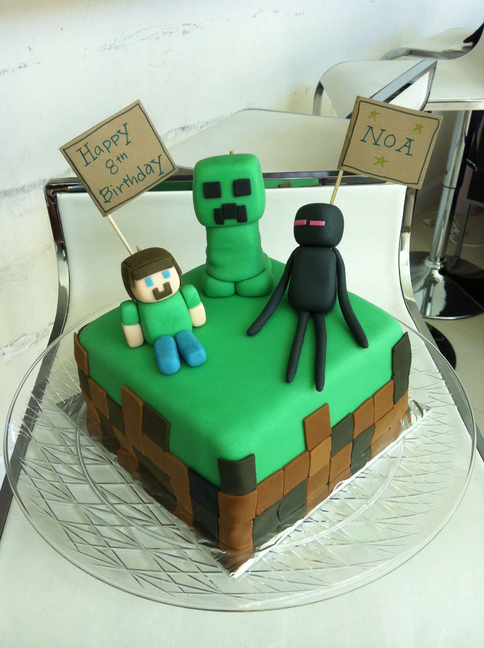 How To Make A Minecraft Birthday Cake  Minecraft Cake