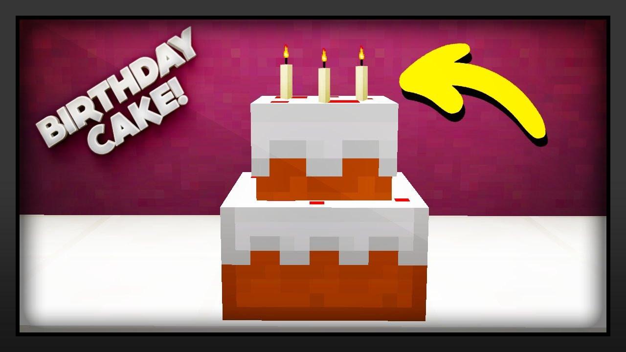 How To Make A Minecraft Birthday Cake  Minecraft How To Make A Birthday Cake