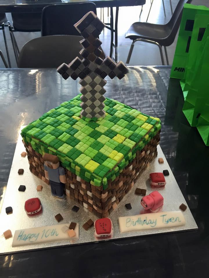 How To Make A Minecraft Birthday Cake  Minecraft Birthday Cake – Sweet Saffron Spice