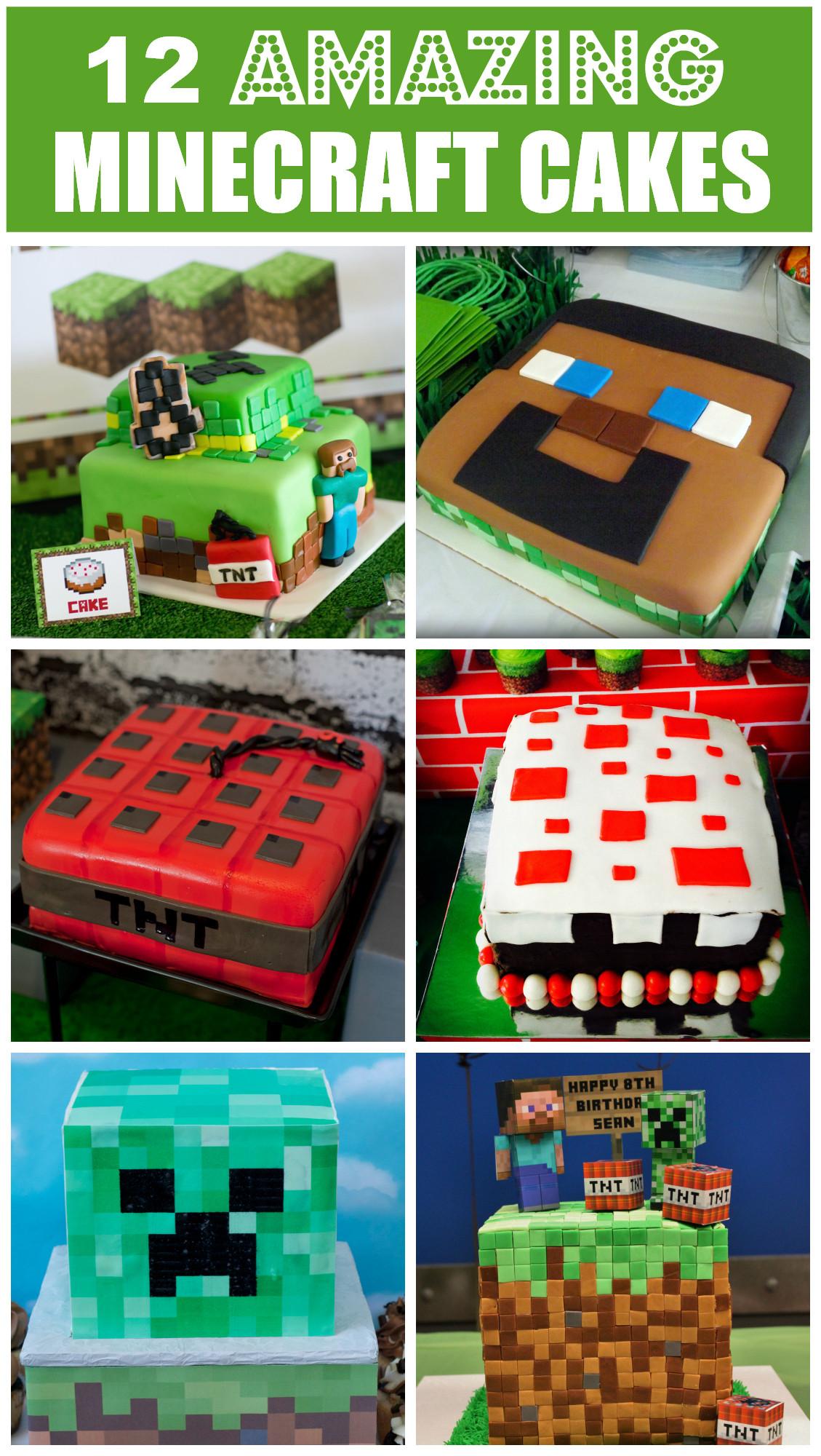 How To Make A Minecraft Birthday Cake  12 Amazing Minecraft Birthday Cakes