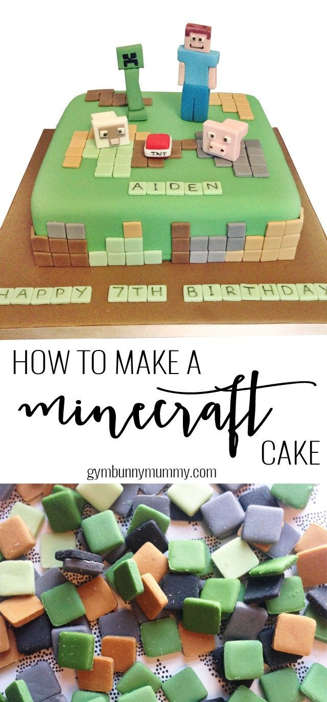 How To Make A Minecraft Birthday Cake  How to make a Minecraft cake the easy way gymbunnymum