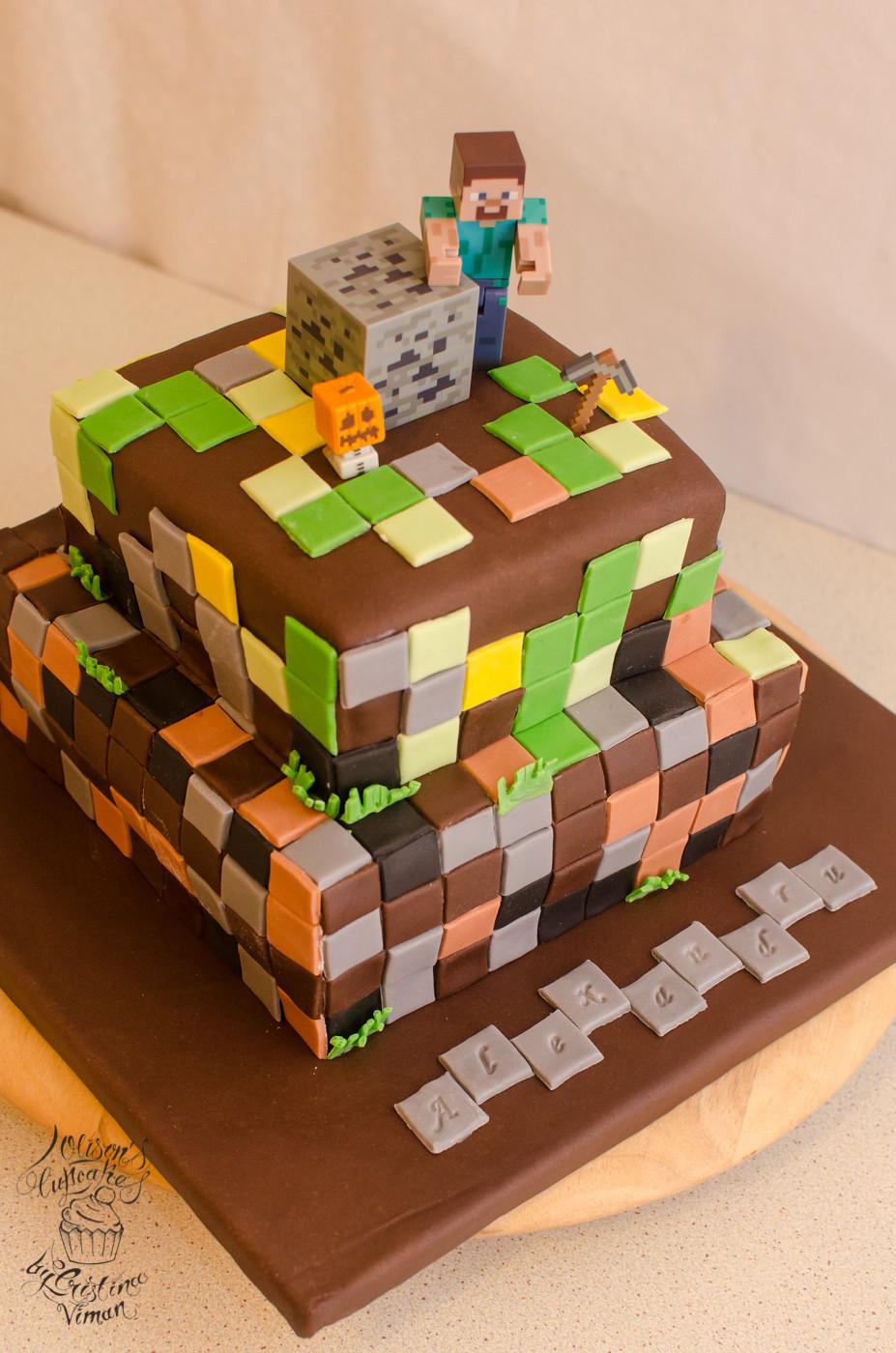 How To Make A Minecraft Birthday Cake  Minecraft Birthday Cake – Olison s Cupcakes