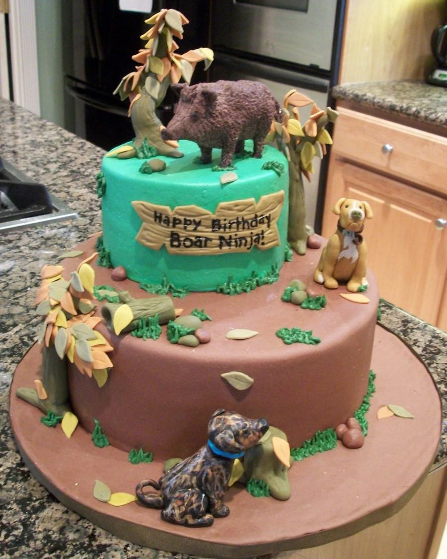 Hunting Birthday Cakes  Boar Hunting Birthday Cake CakeCentral