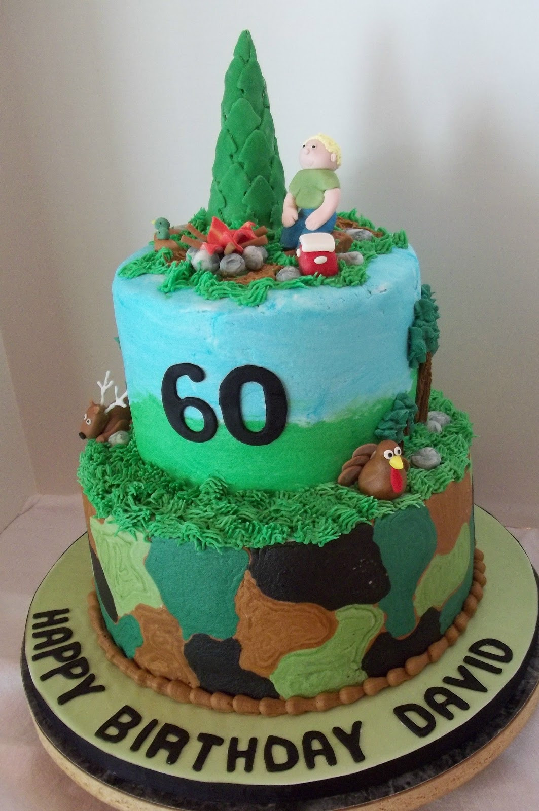 Hunting Birthday Cakes  Bobbie s Cakes and Cookies Hunting Cake