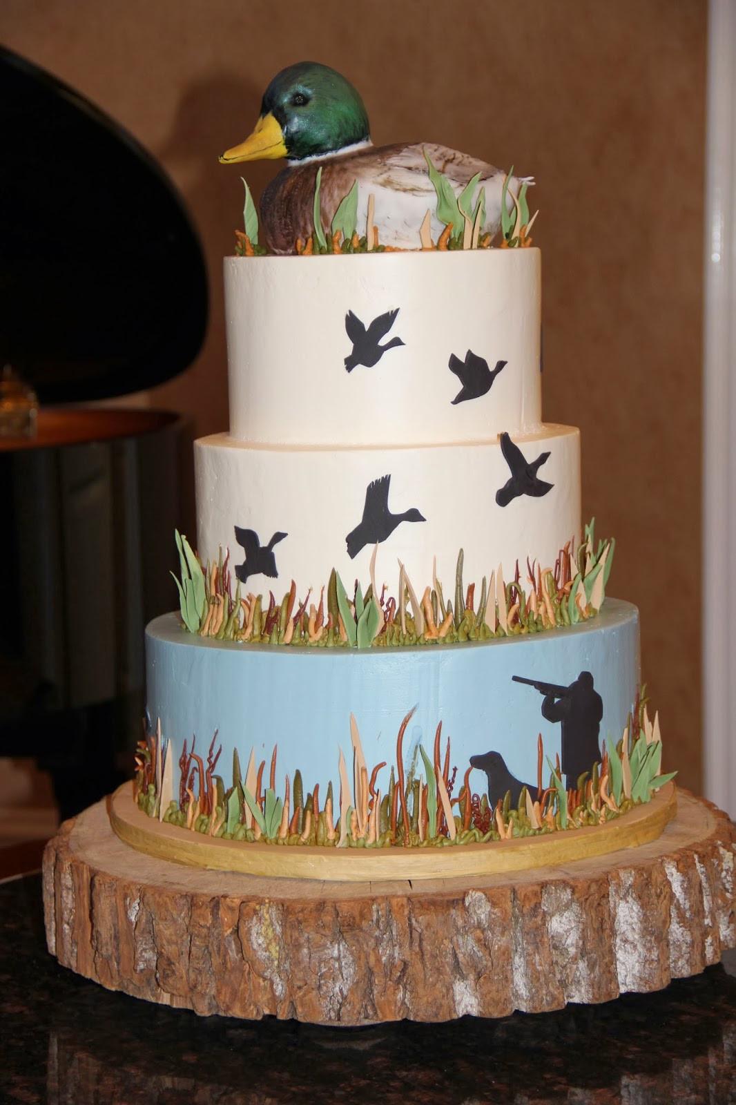 Hunting Birthday Cakes  The Groom s Cake
