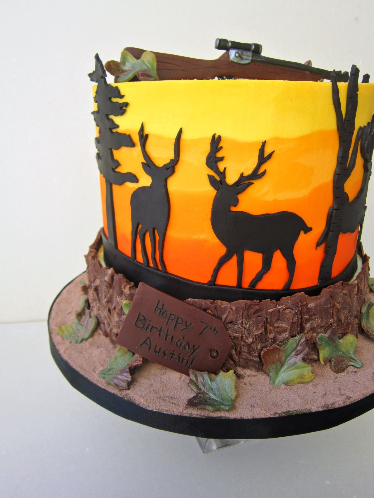 Hunting Birthday Cakes  Delectable Cakes Deer Hunting Birthday Cake