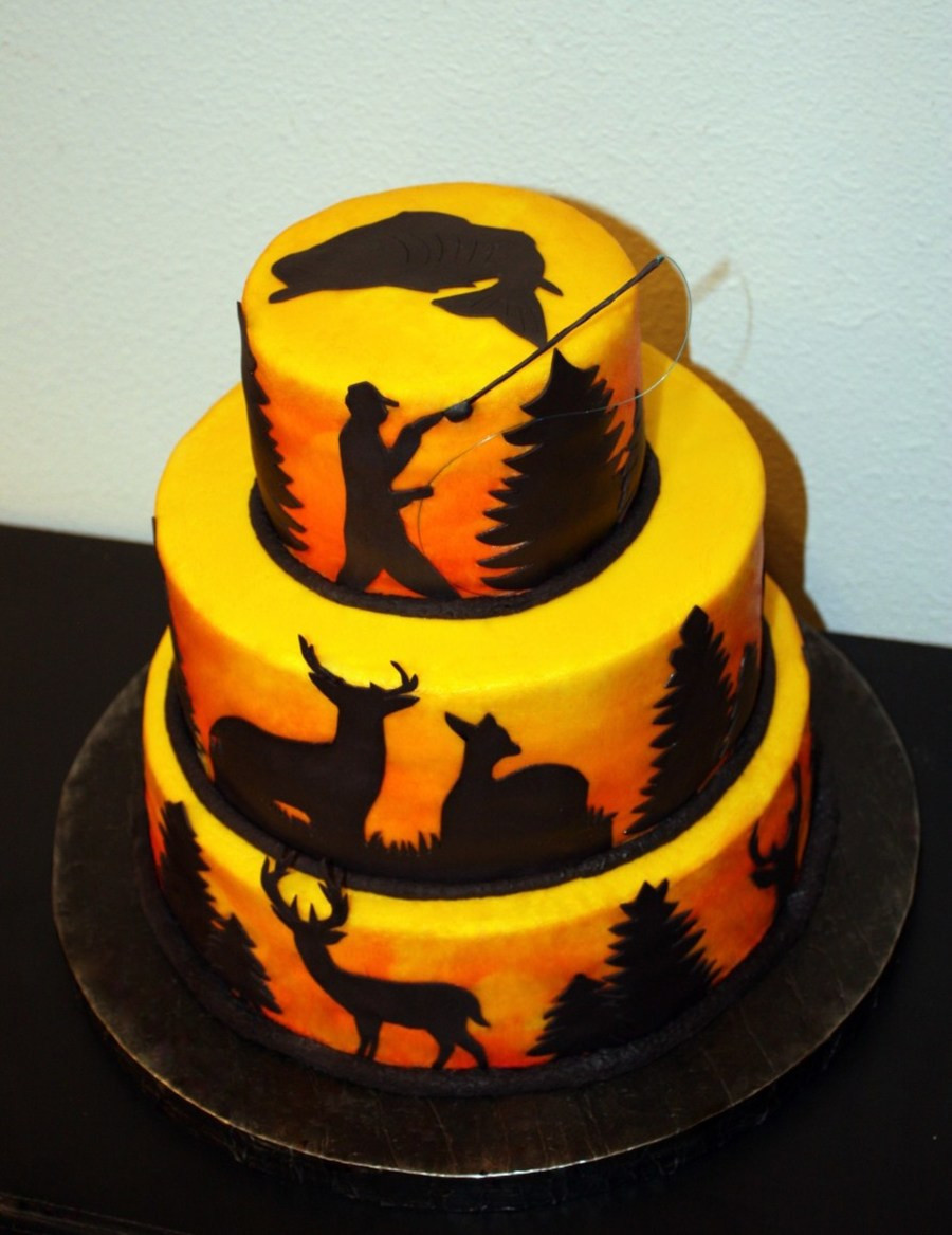 Hunting Birthday Cakes  Hunting & Fishing Cake CakeCentral