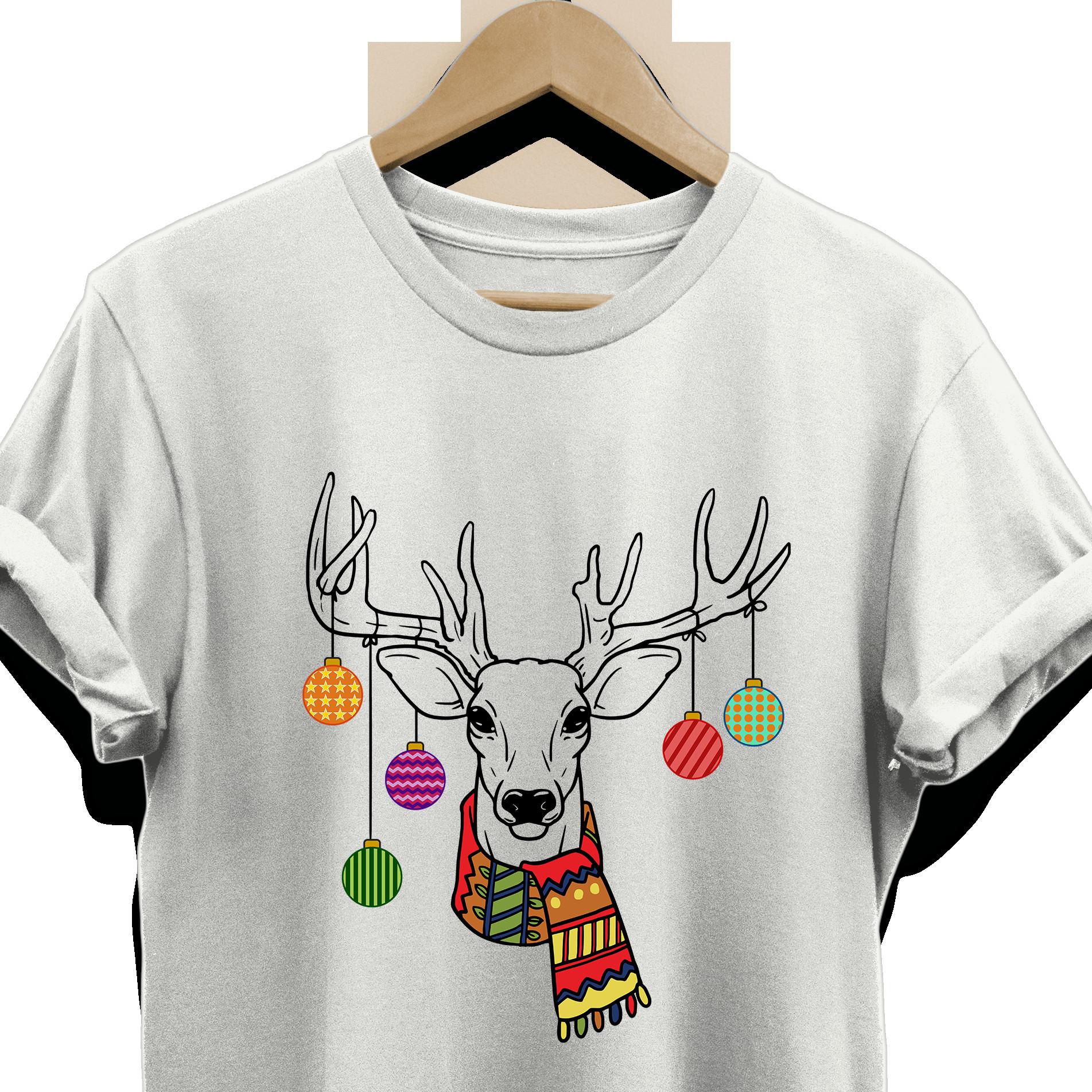 Hunting Gifts For Kids  Christmas Ornaments Deer Tee Shirt for Men Women Boys