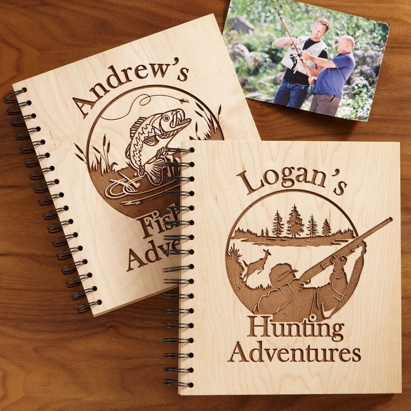 Hunting Gifts For Kids  Hunting and Fishing Adventures Wood Albums