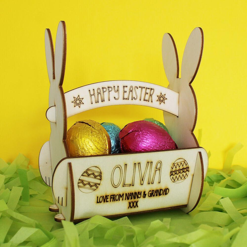 Hunting Gifts For Kids  Personalised Easter Egg Basket For Egg Hunt Gift for