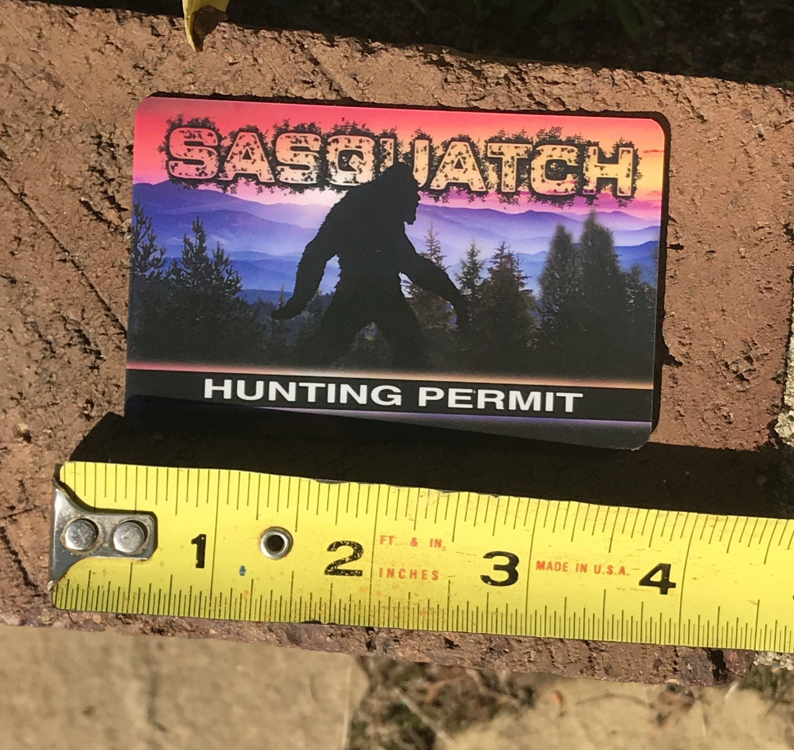 Hunting Gifts For Kids  Sasquatch Hunting Permit Card Fun Gifts for Kids Gifts